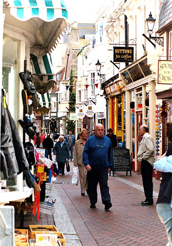 There is a wide assortment of interesting small shops to be found in the narrow backstreets of the town.