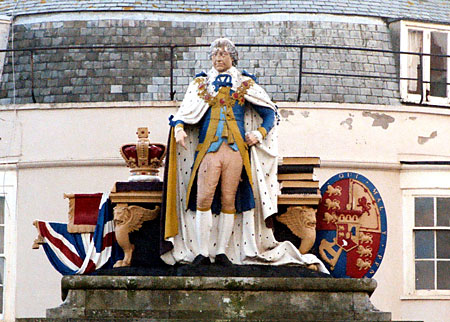 Statue of King George III (detail) at Weymouth