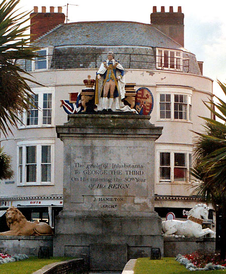 Statue of King George III to commemorate 50 years of his reign.