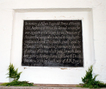 Memorial to A.R. Powys by Reynolds Stone.