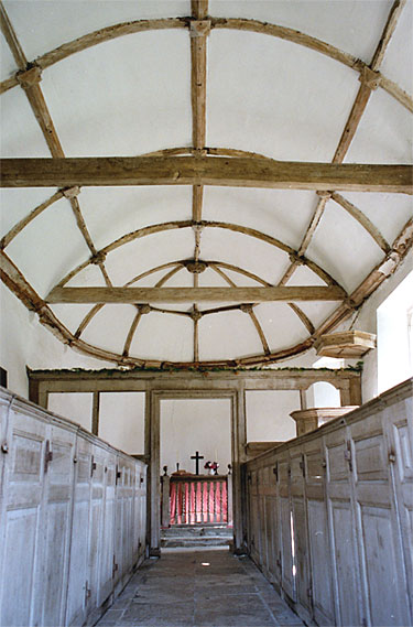 The Wagon Roof of St. Andrews Church. Winterborne Tomson