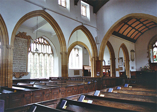 St. Mary's at Puddletown has a north arcade of four bays added in the 15th century