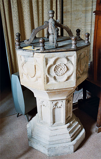 The 15th century font.