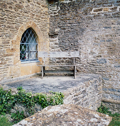 The south door was blocked off and reduced to a window in Victorian times. The furnace has been covered with stone and provides a nice viewpoint from which to survey the surrounding countryside.