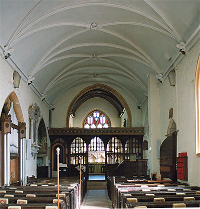 The Nave, looking east towards the Screen, Choir and Chancel