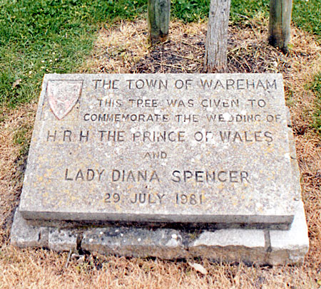 Stone Commemorating the wedding of HRH The Prince of Wales to Lady Diana Spencer.