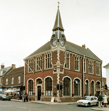 Wareham Town Hall at the centre of the town on the corner of North St., and East St., is home to the town's museum.