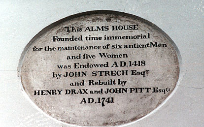 Inscription on the Almshouses in East Street, Wareham.