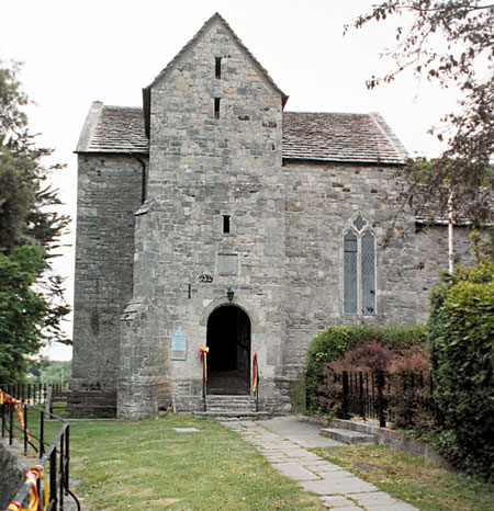 The entrance to St. Martin's Church, Wareham.