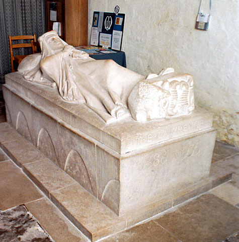Effigy of T.E. Lawrence - 'Lawrence of Arabia' in St. Martin's Church at Wareham.