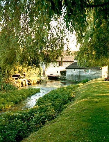 The River Cerne flowing through Godmanstone