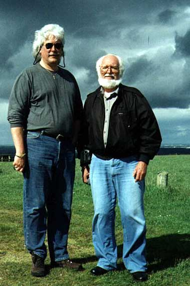 Steven Trent Galbraith with his father Ernest Galbraith photographed June 2002, Purbecks, Dorset.
