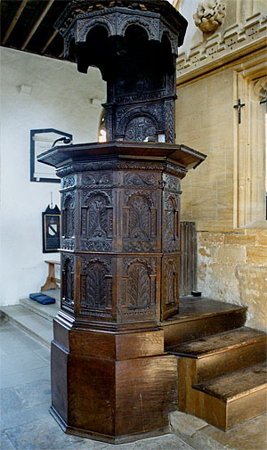 The pulpit at St. Mary's Church dates from 1640.