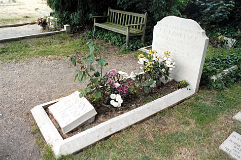 The grave of Lawrence of Arabia at Moreton.