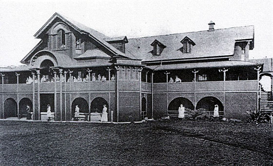 The school the forerunner to Moreton Bay College, designed and built by John Greene born from Bridport.
