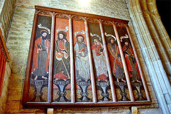 One of two sets of six 15th century panels originally at Milton Abbey and now at All Saints, Hilton.