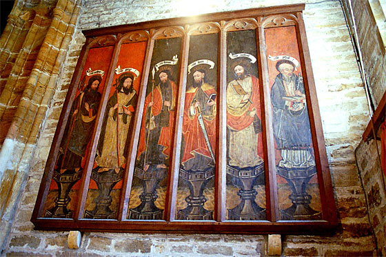 The other set of six 15th century panels originally at Milton Abbey and now at All Saints, Hilton