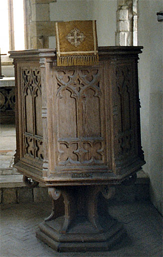 It is said that William Barnes preached his first and last sermons from this pulpit.