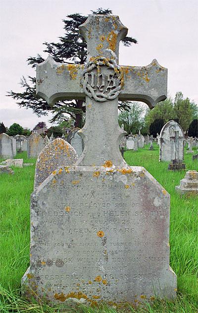 His memorial headstone in Dorchester cemetery