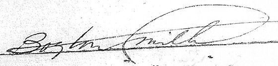 Boyton Smith had an unusually stylised signature which, while distinctive was yet legible.