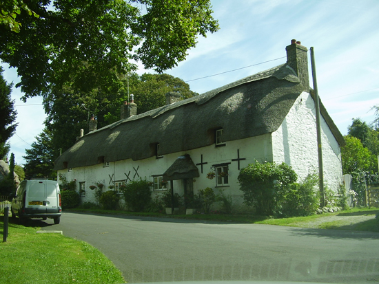 Thatched Cottage in village.