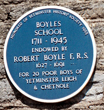Commemorative plaque on the building that was Boyles School.