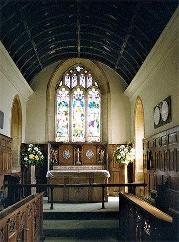 Photo of the church interior looking into the chancel