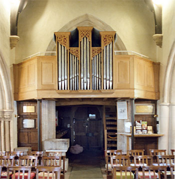 The new gallery and organ were installed in 1996. The gift of Professor Richard Purdy of Yale University to commemorate Florence Hardy, the novelist's second wife.