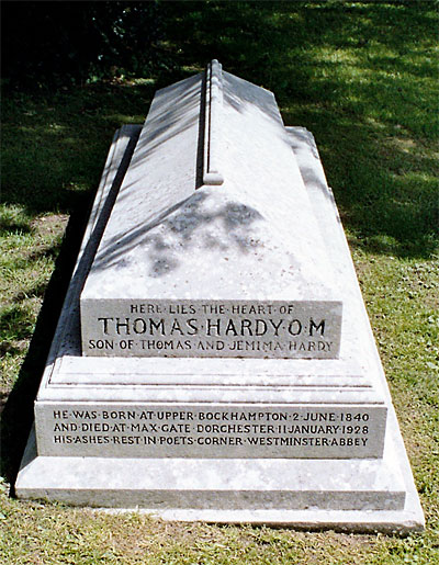 Hardy's heart is buried with his first wife at Stinsford.