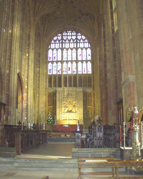Sherborne Abbey. Choir and East Window