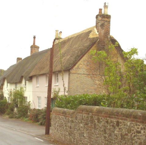 Church Cottages at Durweston photographed by J. Graham-Wilson