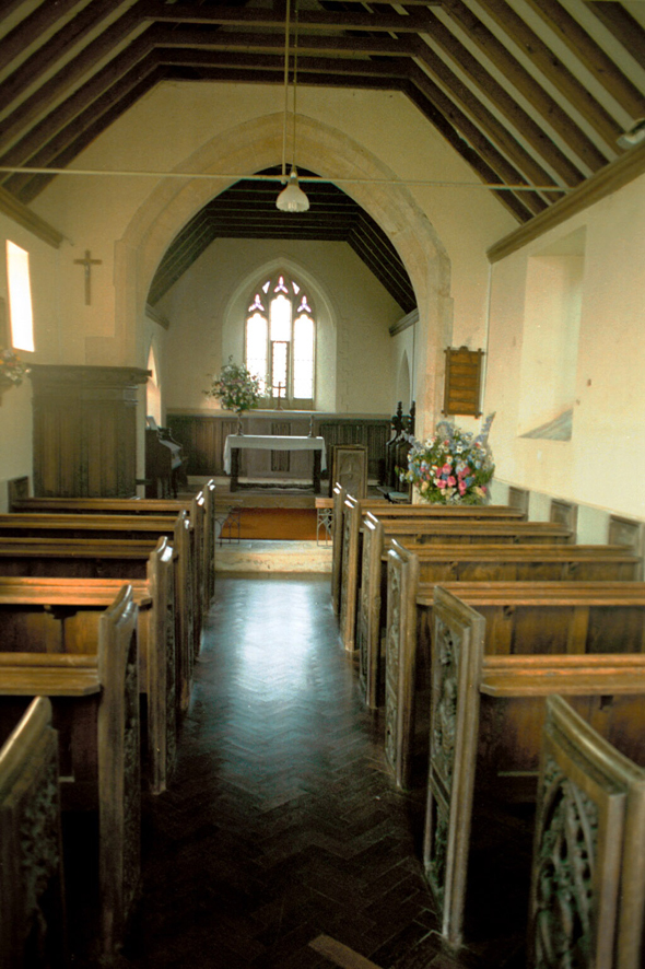Interior of St. Nicholas Church, Hilfield.