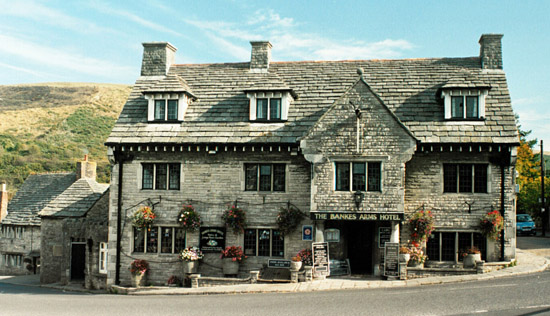 The Bankes Arms Hotel at Corfe Castle