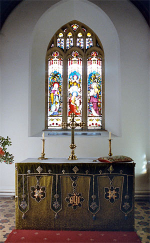 The east window in the chancel of St. Andrew's Church. Photo: Robert Chisman