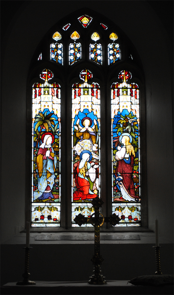 The east window at St Andrew's Church. Photo: Robert Chisman