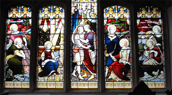 The wonderful window in the north chapel at St. Andrew's. Photo Robert Chisman.