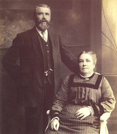 William and Hester Hatcher. William was born at Todber in 1854 and died at Downton in Wiltshire in 1945. Hester was born at Stour Provost in 1859 and died at Downton in 1931. Our thanks to Ruth Scott for sharing this photograph with us.