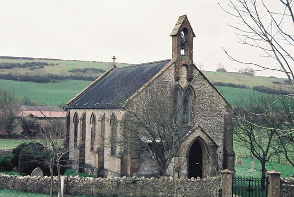 The Church of St. Lawrence at Wynford Eagle. Photo by Chris Downer (for more information about the photographer click on photo.)
