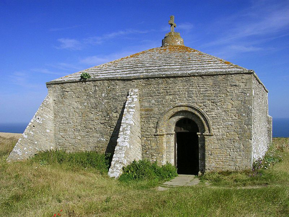 St. Aldhelm's Chapel in the parish of Worth Matravers. Photo used under a Common Licence.