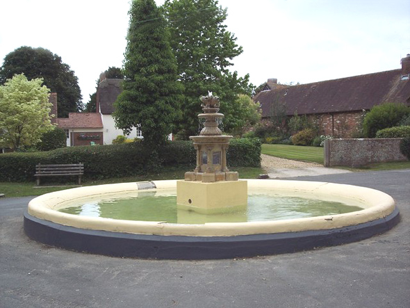 The Village Fountain. Photo by Trish Steel. For more about Trish Steel click on photo.