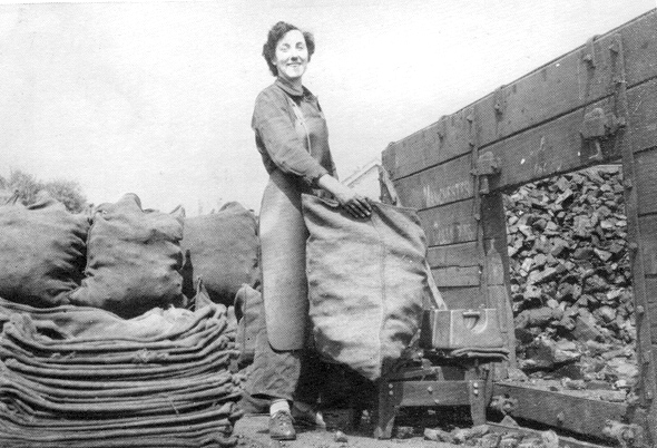 In 1954 Irene Stockley of Corfe Castle, pictured here, appeared on the TV show 'What's My Line.' The celebrity panel failed to guess her occupation – she delivered coal!
