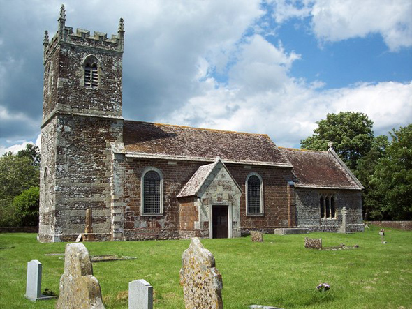 St Mary's Church - Almer. Photo by Trish Steel, please click on the image for more about the photographer.