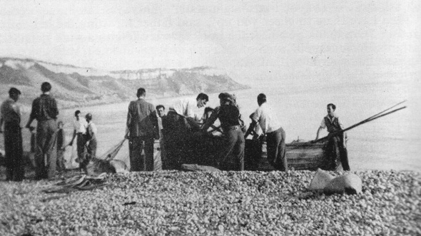 Fishermen on Chesil Beach