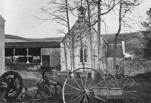 The little church at Chilcombe, photographed in the 1960's.