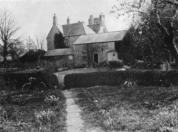 Photograph of rear of Steeple Rectory. Probably taken in the early part of 20th century.