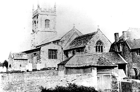 This photo by  J.W. Boswell shows the church before the restoration in 1875.