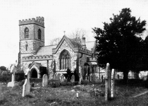 This photograph of St. Mary's Church at Thorncombe we believe dates from the mid 1950's