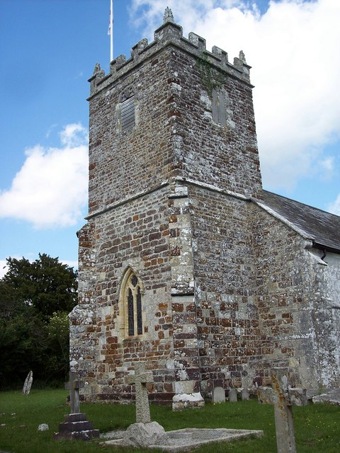The Tower of St. Andrew's Church at Bloxworth. Photo by Trish Steel, for more about the photographer click on the image.