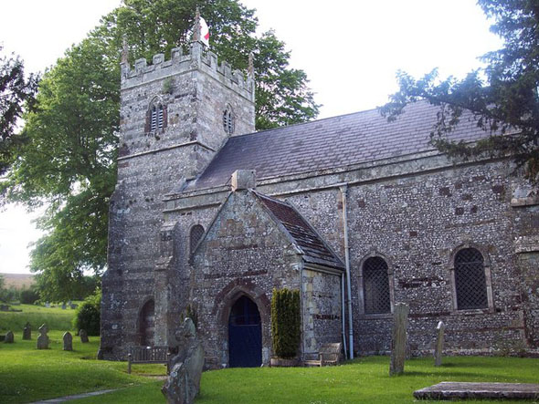St. Mary's Church at Winterborne Stickland. Photo by Trish Steel, for more about the photographer please click on the image.