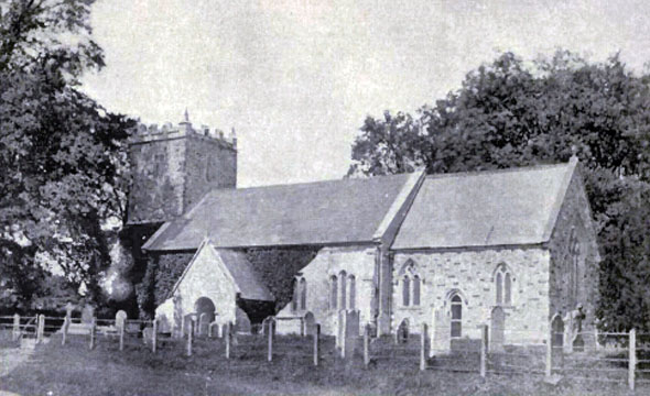 This photo of St. Andrew's Church was taken around 1895.